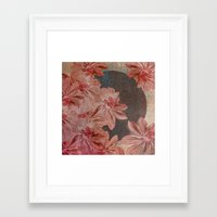 leah flores Framed Art Prints featuring Flores by MACACOSS