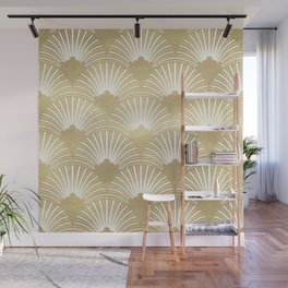Gold foil look Art-Deco pattern Wall Mural