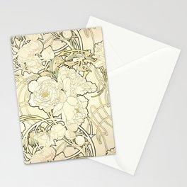 "Alphonse Mucha ""Peonies"" Stationery Cards"