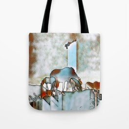 Drawn in the Mist. Tote Bag