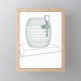 beer keg Framed Mini Art Print