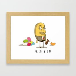 Mr. Jelly Bean Framed Art Print