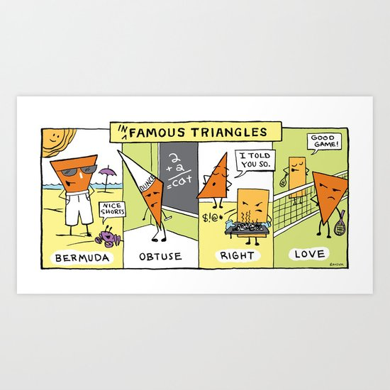 The Daily Drawing Comic – Infamous Triangles Art Print