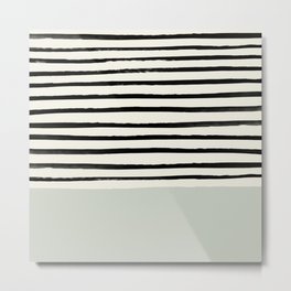 Coastal Breeze x Stripes Metal Print