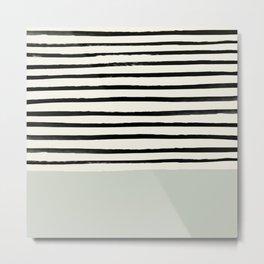 Coastal Breeze x Stripes Metal Print