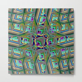 Abstract BB ZZ Metal Print