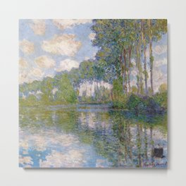 Claude Monet -- Poplars at the Epte Metal Print