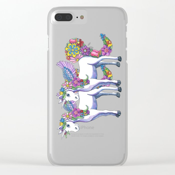 Unicorn Twins Clear iPhone Case