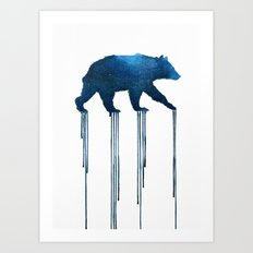 indigo bear Art Print