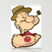 popeye Stationery Cards featuring POPEYE by Valter Brum