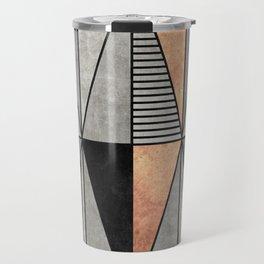 Concrete and Copper Triangles Travel Mug