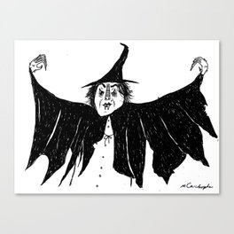 Witch dress up Canvas Print