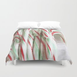 Candy Cane Stash Duvet Cover
