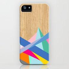 Geometric Color-Design in Wood iPhone SE Slim Case