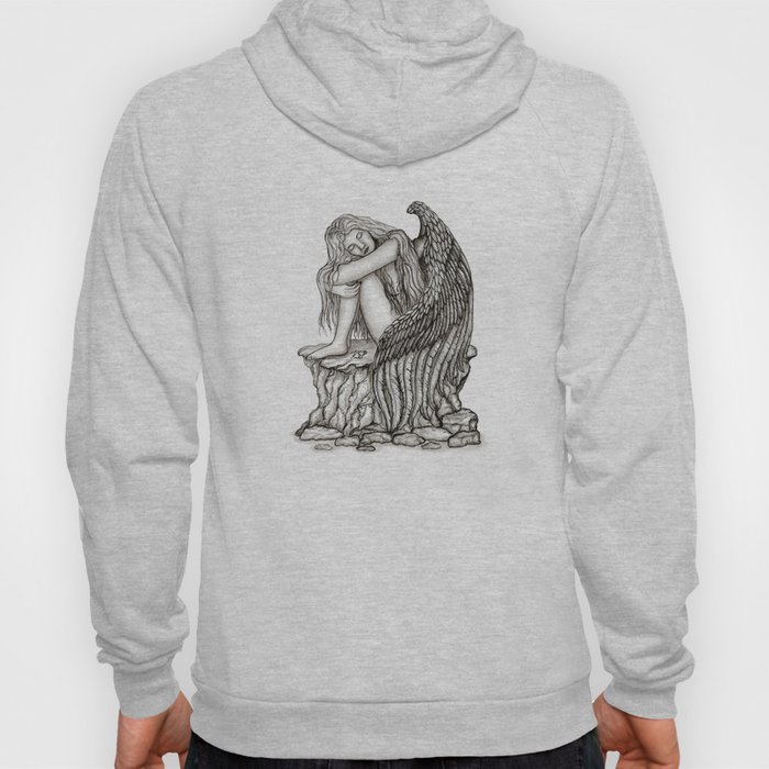 A sleeping Angel , Black and white Design Hoody