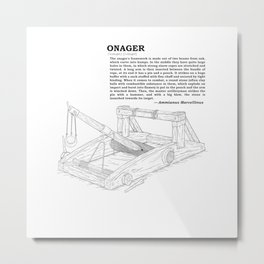 Onager Sketch [Black] Metal Print