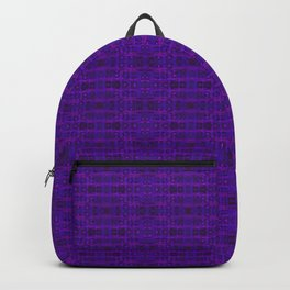 Ultra-Violet Weave, abstract pattern Backpack