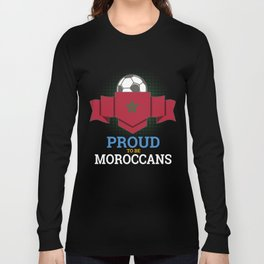Football Moroccans Morocco Soccer Team Sports Footballer Goalie Rugby Gift Long Sleeve T-shirt