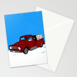 Best Labrador Buddies In Old Red Truck Stationery Cards