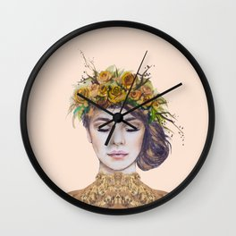 Rose Gold Lady Wall Clock