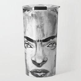 Frida KAHLO Flowers Black and White Travel Mug