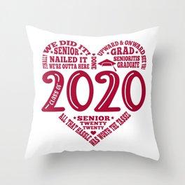 Class of 2020 Senior Subway art words Throw Pillow
