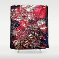 carnage Shower Curtains featuring Carnage by Jeni Decker