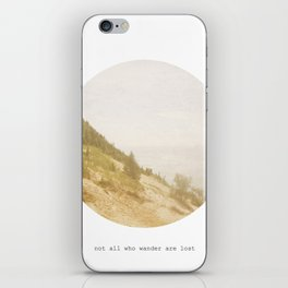 Not All Who Wander iPhone Skin