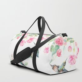 Paradise - watercolor hummingbirds and fuschia Duffle Bag