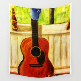Tex's Guitar Wall Tapestry