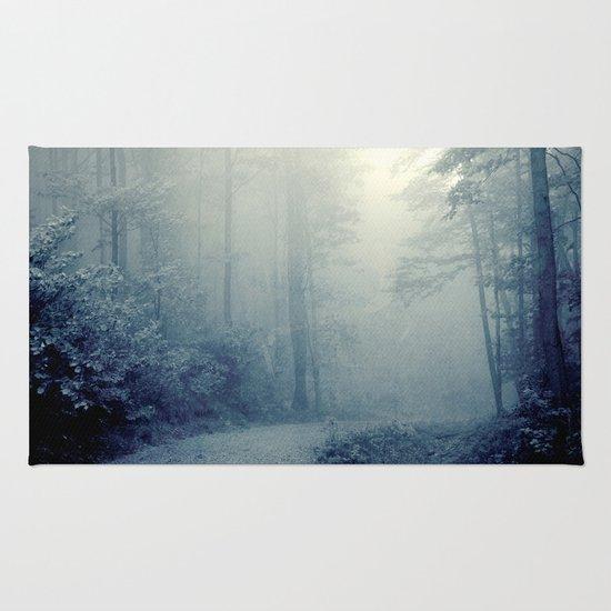 Wander in a Woodland Fog Rug