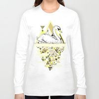 swan Long Sleeve T-shirts featuring Swan by Wendy Ding: Illustration