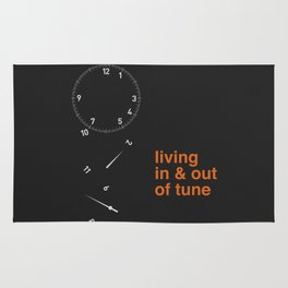 living in & out of tune Rug