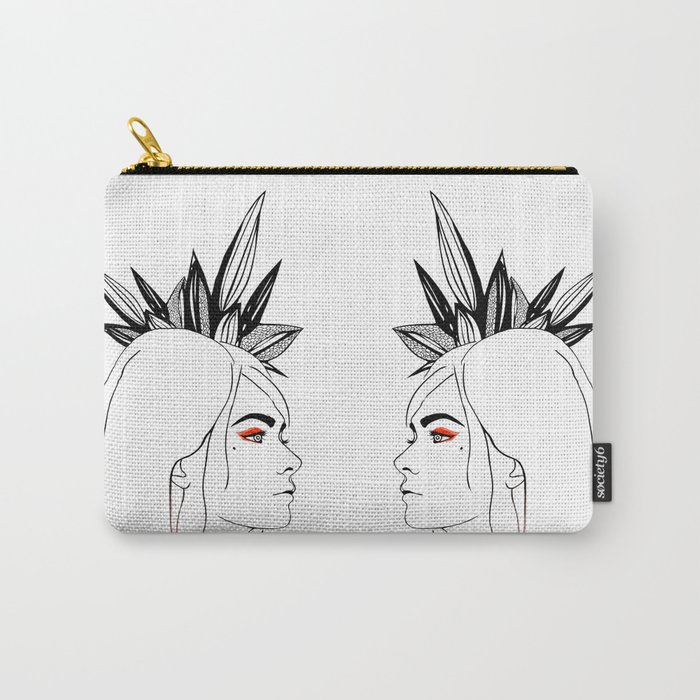Fashion illustration, black and white Carry-All Pouch