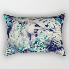 Floral Tiger Rectangular Pillow