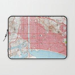 Vintage Map of Long Beach California (1964) 4 Laptop Sleeve