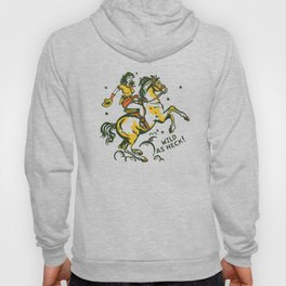 """""""Wild As Heck"""" Hand Illustrated Cowgirl Design Style #2 Hoody"""
