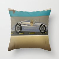 scuba Throw Pillows featuring Scuba Driver by Chris Cooch