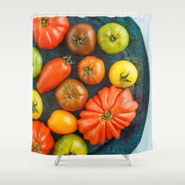 Various heirloom tomatoes Shower Curtain