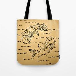 Dancing Fish 3 Tote Bag