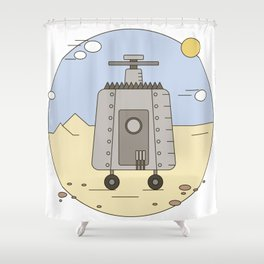 Pepelats. Russian science fiction. Shower Curtain