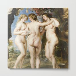 The Three Graces by Peter Paul Rubens, 1635 Metal Print
