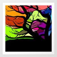 Tree seven Art Print