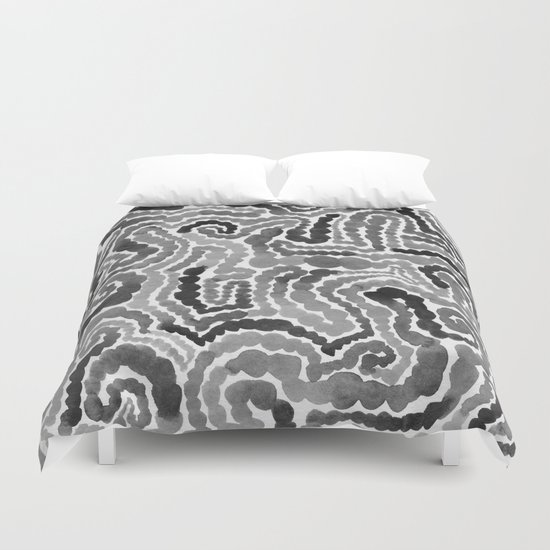 Gray Painting Duvet Cover