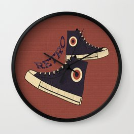 Retro Shoes Wall Clock
