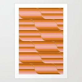 Geo Stripes - Butterscotch Art Print