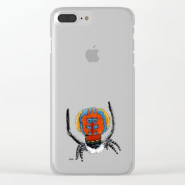 Peacock Spider Clear iPhone Case