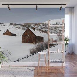 Snow Covered Cabin - Carol Highsmith Wall Mural