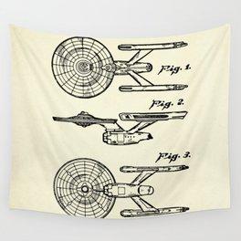 Starship Enterprise Startrek -1981 Wall Tapestry