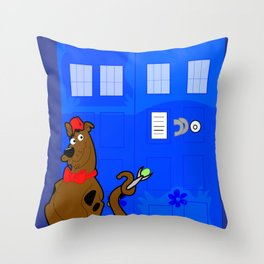 Doctor Scooby-Who Throw Pillow